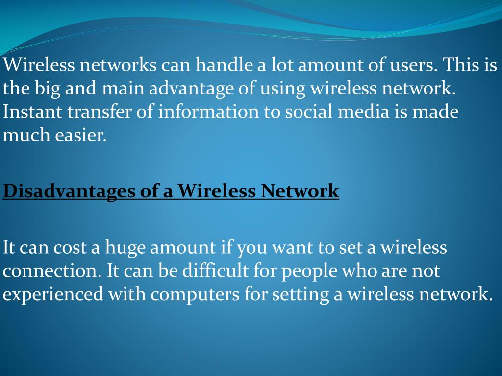 PPT - Advantages and disadvantages - Wireless Communication