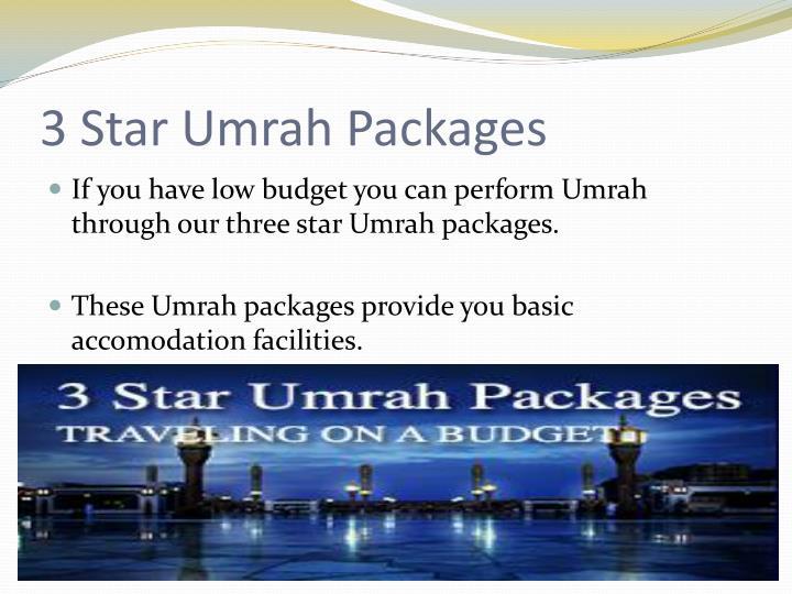 3 star umrah packages