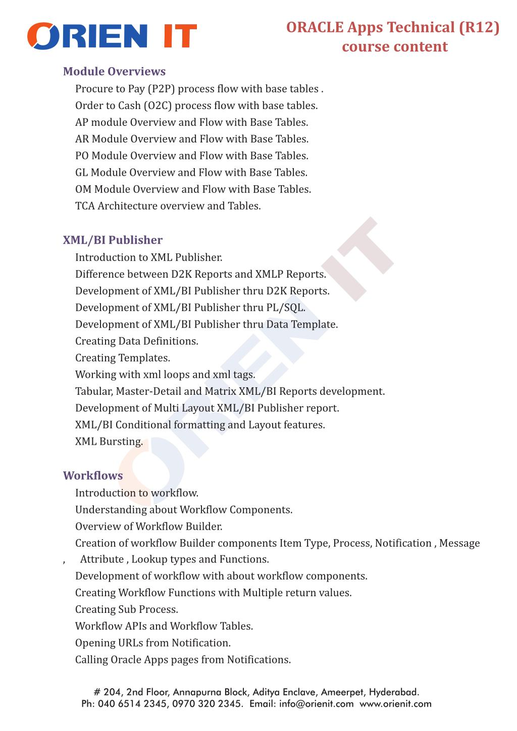 PPT - Oracle Apps Technical Training in Hyderabad