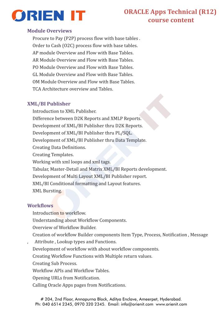 ORACLE Apps Technical (R12)