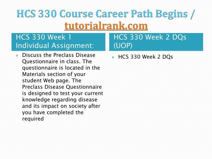 Hcs 330 course career path begins tutorialrank com2