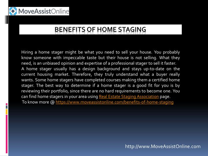 benefits of home staging n.