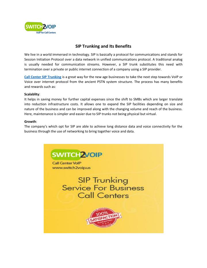 PPT - SIP Trunking and Its Benefits PowerPoint Presentation