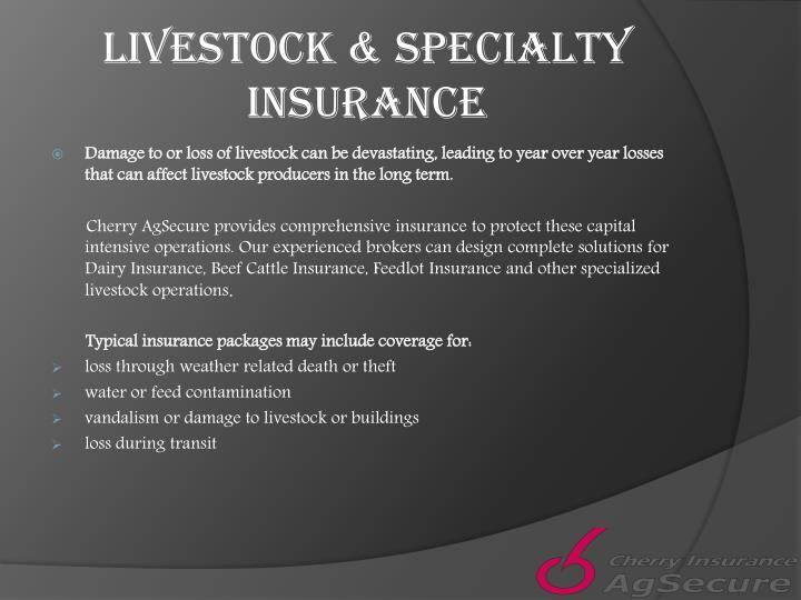 Livestock & Specialty Insurance