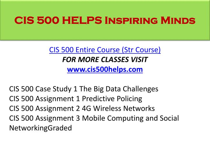 cis 500 predictive policing Cis 500 assignment 1 predictive policing http homeworktimescom downloads cis-500-assignment-1-predictive-policing for more tutorial visit http.