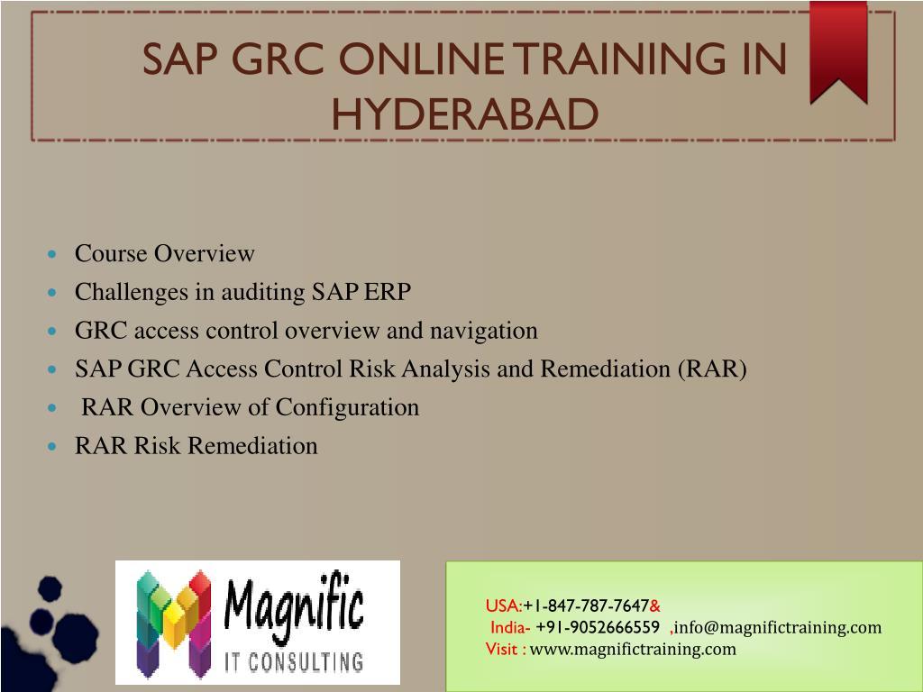 Ppt Sap Grc 10 1 Online Training Usa Singapore Uk