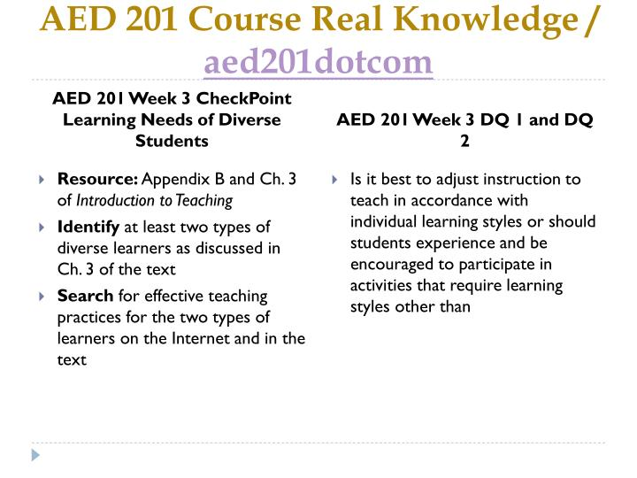 aed 201 checkpoint learning needs of Aed 201 checkpoint learning needs of diverse studentsdoc aed 201 checkpoint managing a daily teaching scheduledoc aed 201 checkpoint teaching as a professional.