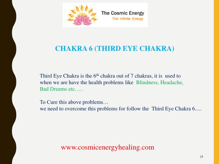 CHAKRA 6 (THIRD EYE CHAKRA)