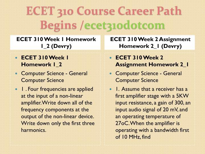 Ecet 310 course career path begins ecet310dotcom2