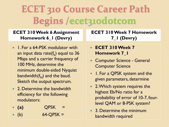 ECET 310 Week 6 Assignment Homework 6_1 (Devry)