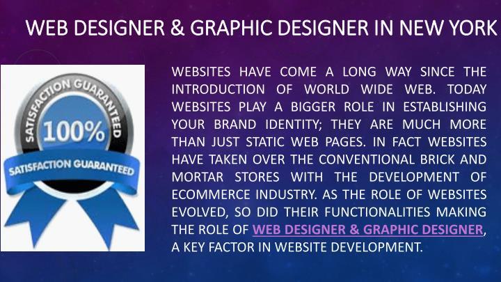 Web designer graphic designer in new york