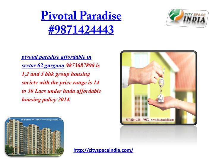 Pivotal paradise 9871424443
