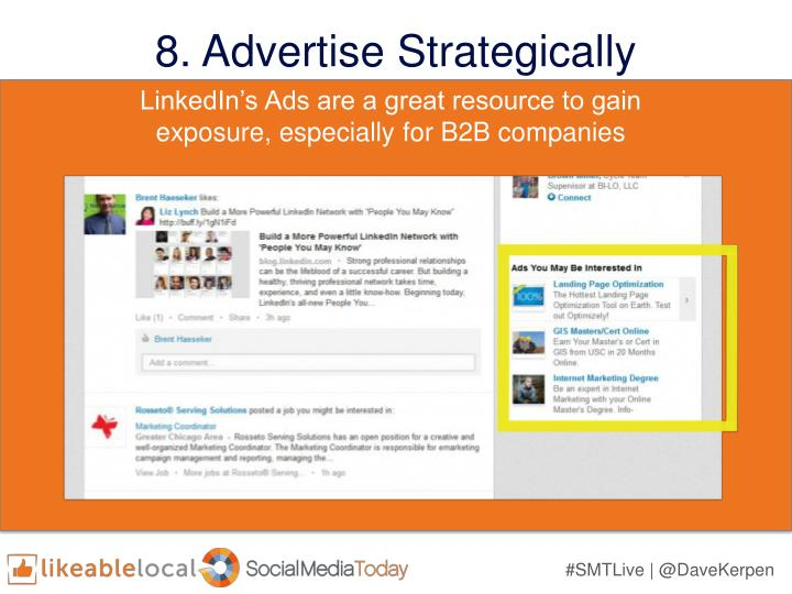 8. Advertise Strategically