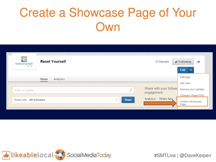 Create a Showcase Page of Your Own