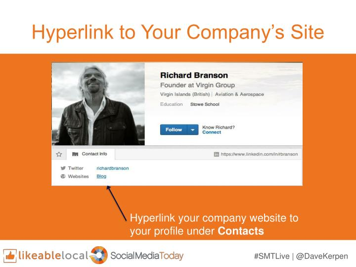 Hyperlink to Your Company's Site