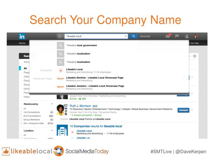 Search Your Company Name
