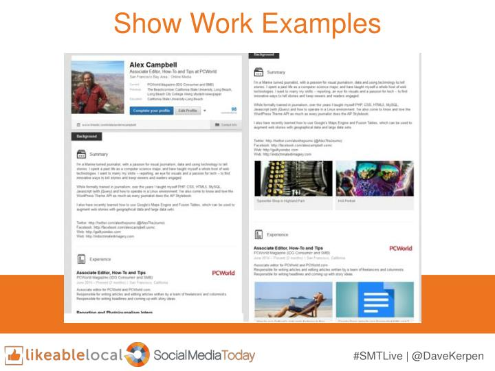 Show Work Examples