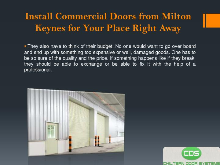 Install commercial doors from milton keynes for your place right away2