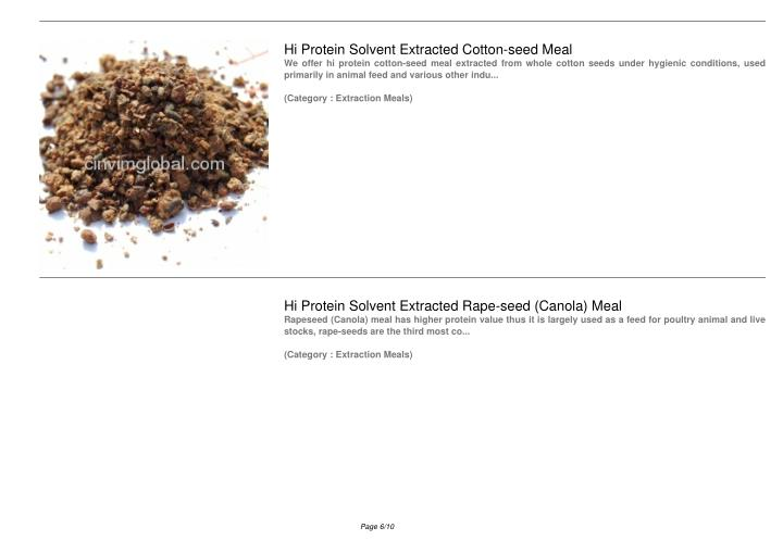 Hi Protein Solvent Extracted Cotton-seed Meal