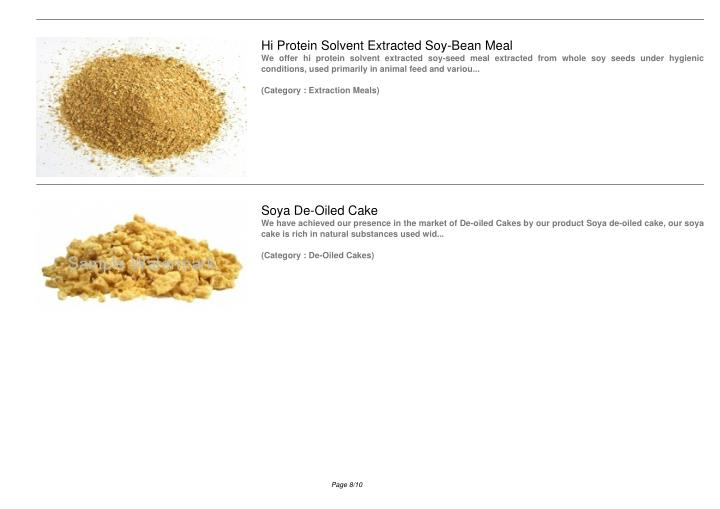 Hi Protein Solvent Extracted Soy-Bean Meal