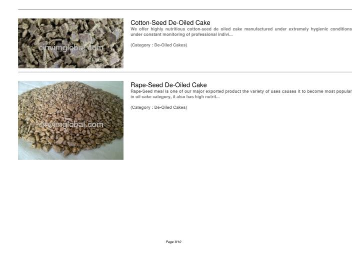 Cotton-Seed De-Oiled Cake