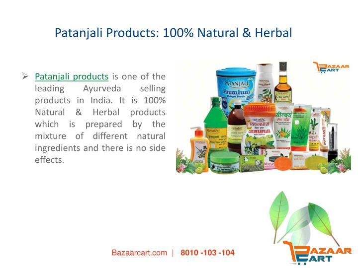 Patanjali products 100 natural herbal