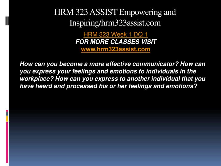 Hrm 323 assist empowering and inspiring hrm323assist com2