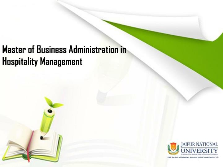 master of business administration in hospitality management n.