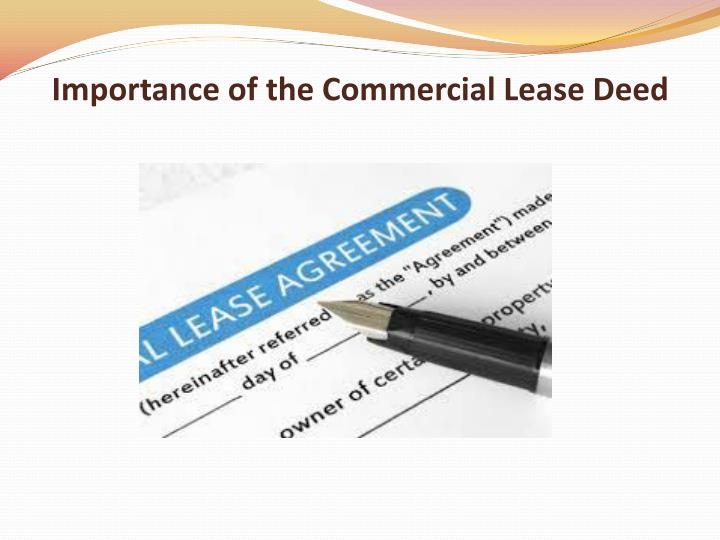 Importance of the commercial lease deed