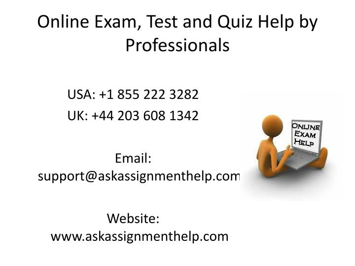 online exam test and quiz help by professionals n.