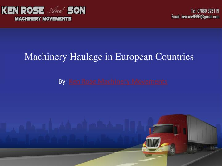 road haulage structure of european Report on the state of the eu road transport market – frequently asked questions employment in the sector and company structure the european road.