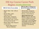 ese 631 course career path begins ese631dotcom1