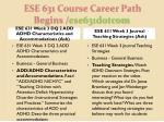 ese 631 course career path begins ese631dotcom6
