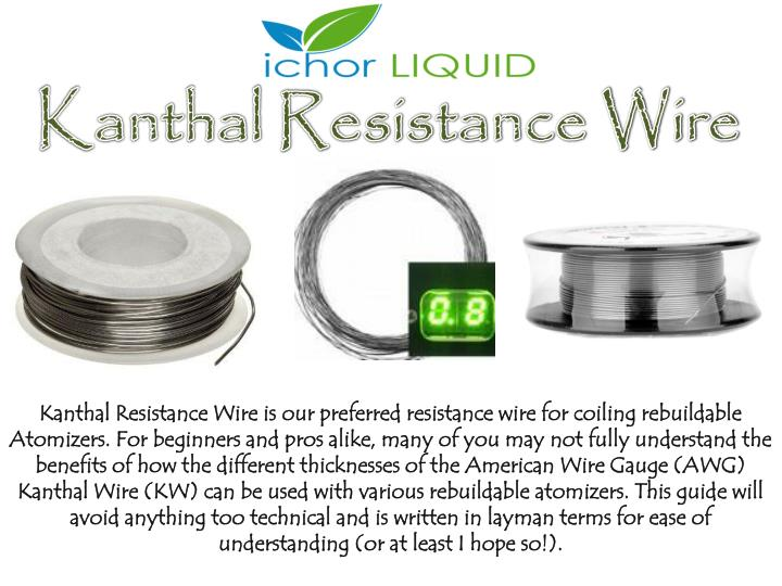 Ppt kanthal resistance wire guide chart by ichor liquid powerpoint kanthal resistance wire keyboard keysfo Image collections