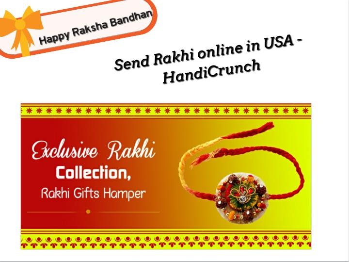 Send Rakhi online in USA -