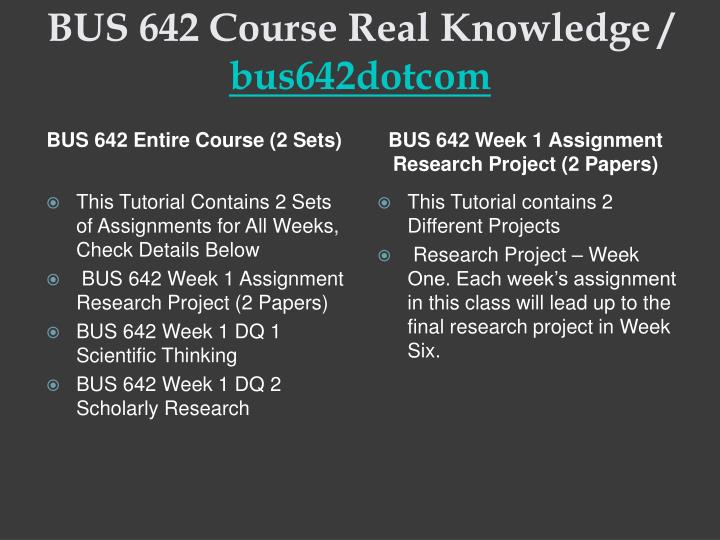 Bus 642 course real knowledge bus642dotcom1