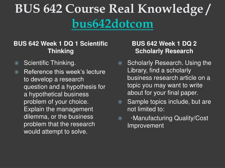 Bus 642 course real knowledge bus642dotcom2