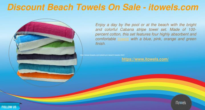 Ppt Discount Beach Towels On Sale Itowelscom Powerpoint