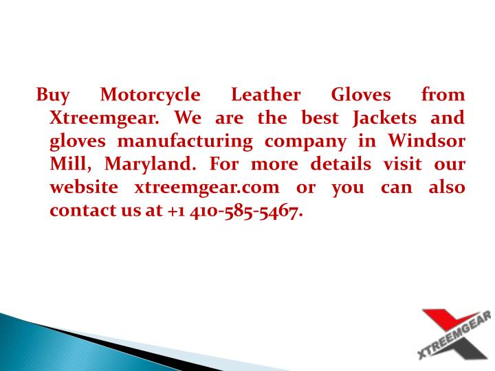 Buy Motorcycle Leather Gloves from