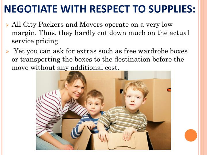 NEGOTIATE WITH RESPECT TO SUPPLIES: