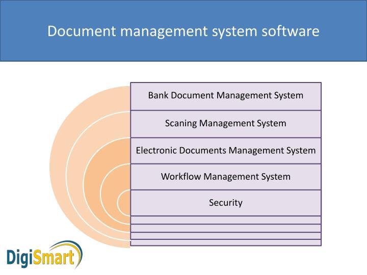 Ppt Document Management System Software Bank Document Management