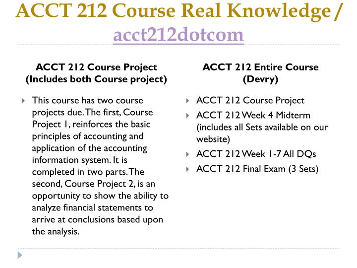 Acct 212 course real knowledge acct212dotcom1