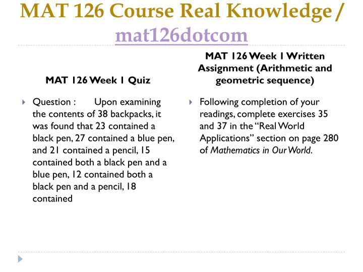 mat 126 week 3 quiz