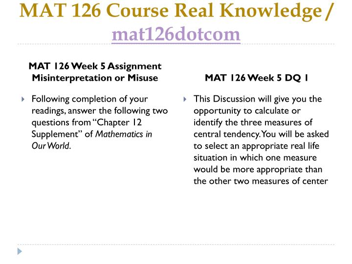 Week 4 assignment 1 mat 126