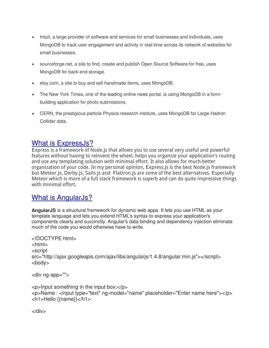 PPT - Node Js, AngularJs and Express Js Tutorial PowerPoint
