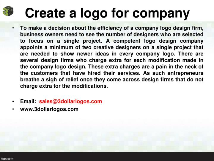 Create a logo for company