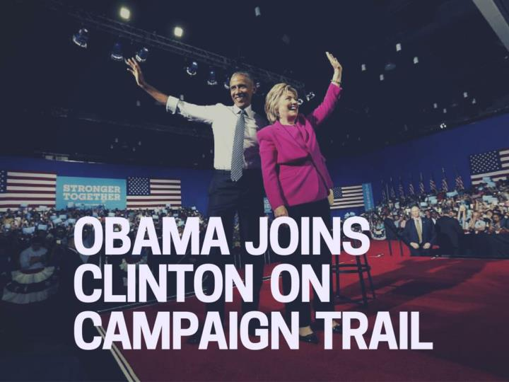 obama joins clinton on campaign trail n.