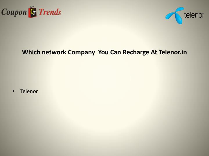 Which network Company  You Can Recharge