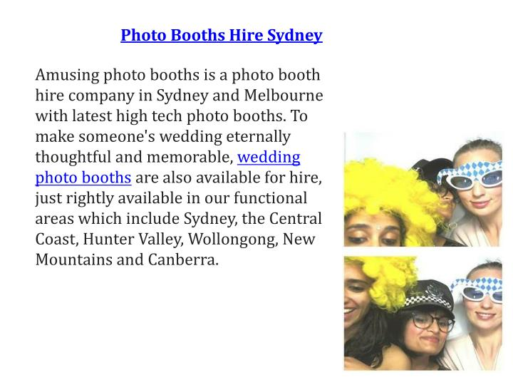 Photo Booths Hire Sydney