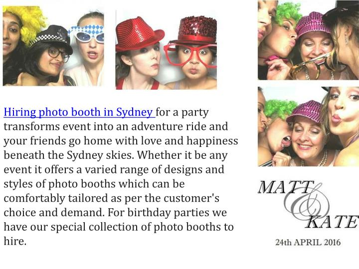 Hiring photo booth in Sydney